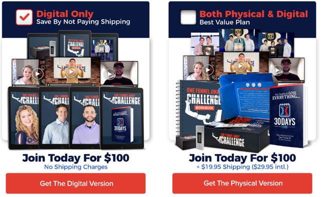 One Funnel Away Challenge Pricing